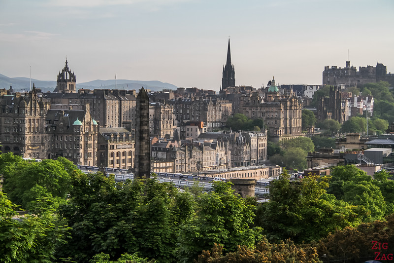 View of Edinburgh Old Town from Calton Hill Edinburgh