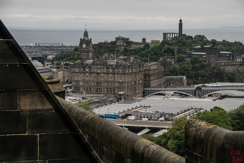 View of Edinburgh Calton Hill from Edinburgh Castle