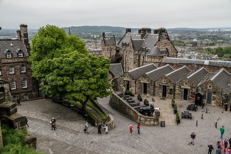 Visit Edinburgh Castle Scotland - Upper buildings 2