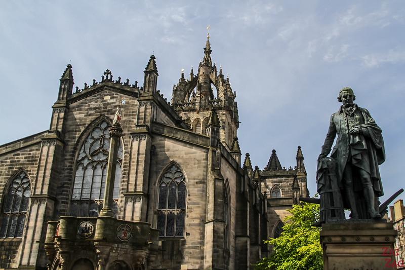 The Royal Mile Edinburgh Scotland - St Giles Cathedral