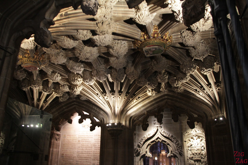 Thistle Chapel in St Giles Edinburgh Cathedral