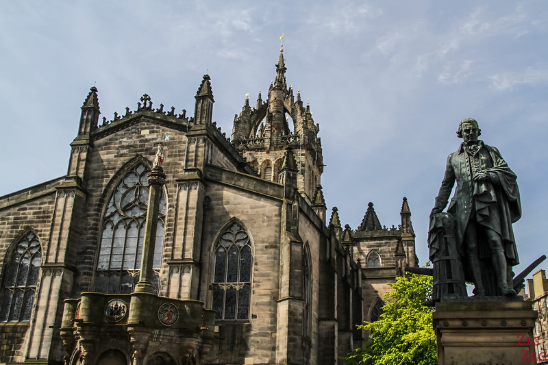 outside of St Giles Edinburgh Cathedral 2