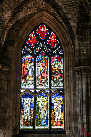 Stained Glass is St Giles Cathedral 4