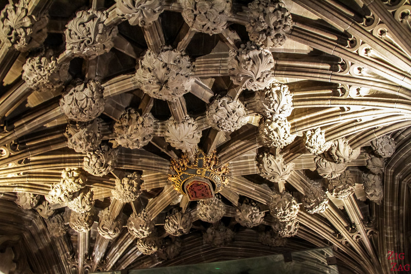 Thistle Chapel in St Giles Edinburgh Cathedral - ceiling