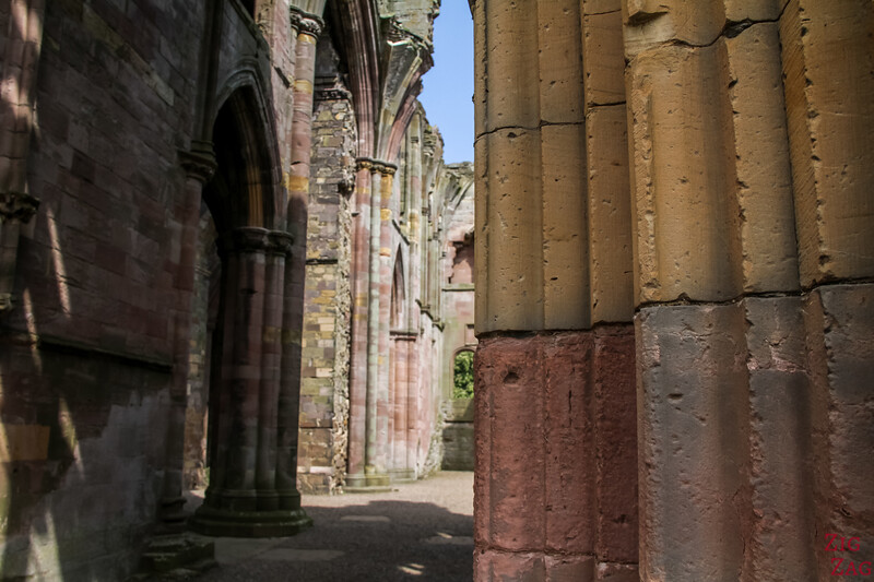 Melrose Abbey church 7