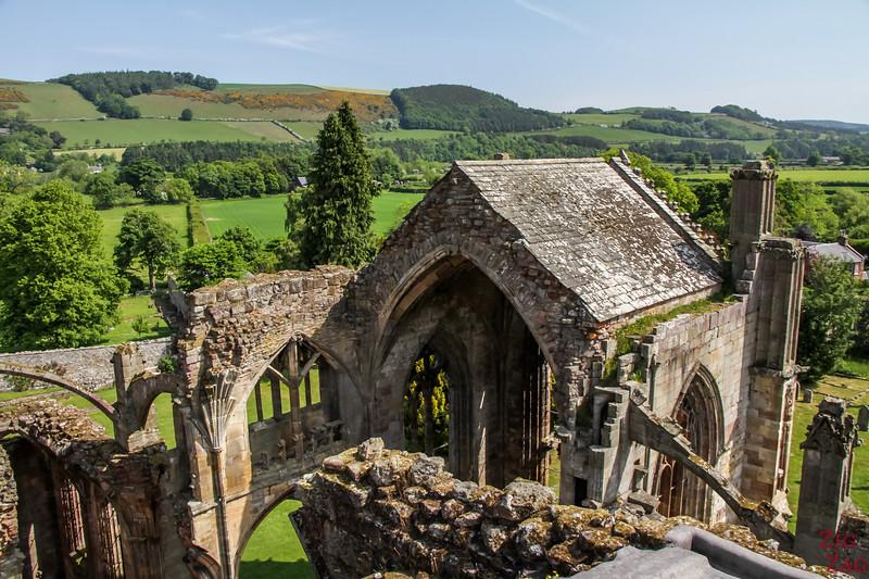 Melrose Abbey Dach Aussichtspunkt 2