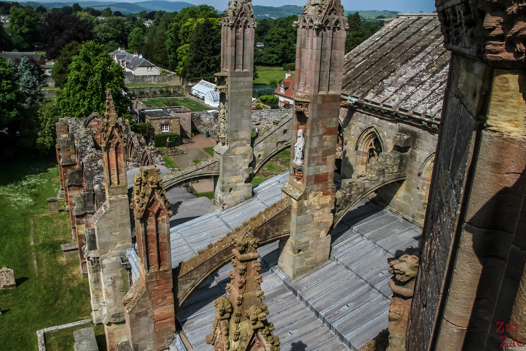 Melrose Abbey Roof viewpoint 2