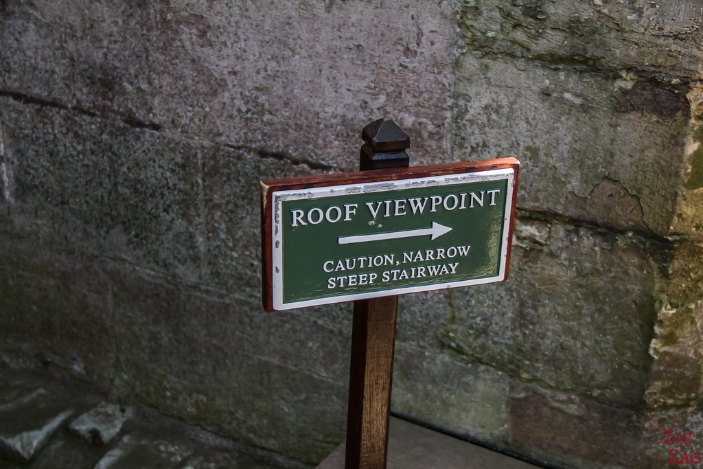 Melrose Abbey Roof viewpoint 1
