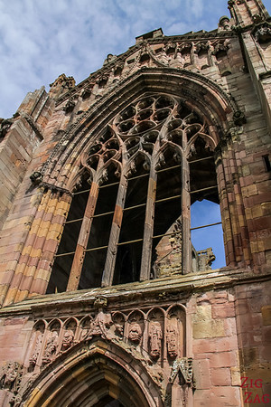 Melrose Abbey church 6