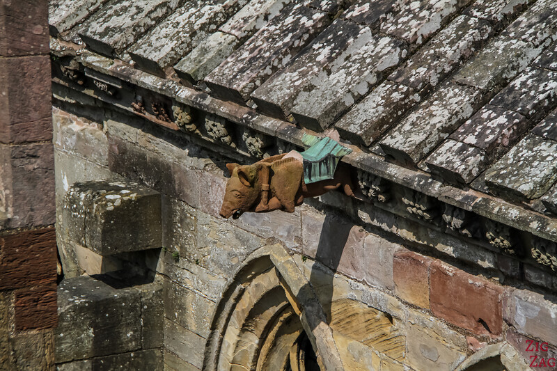 Melrose Abbey Roof viewpoint 5
