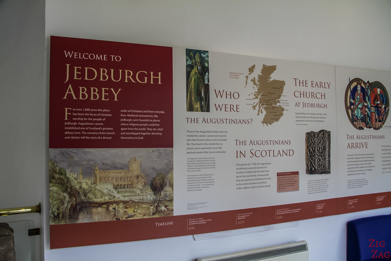 Jedburgh Abbey Scotland display