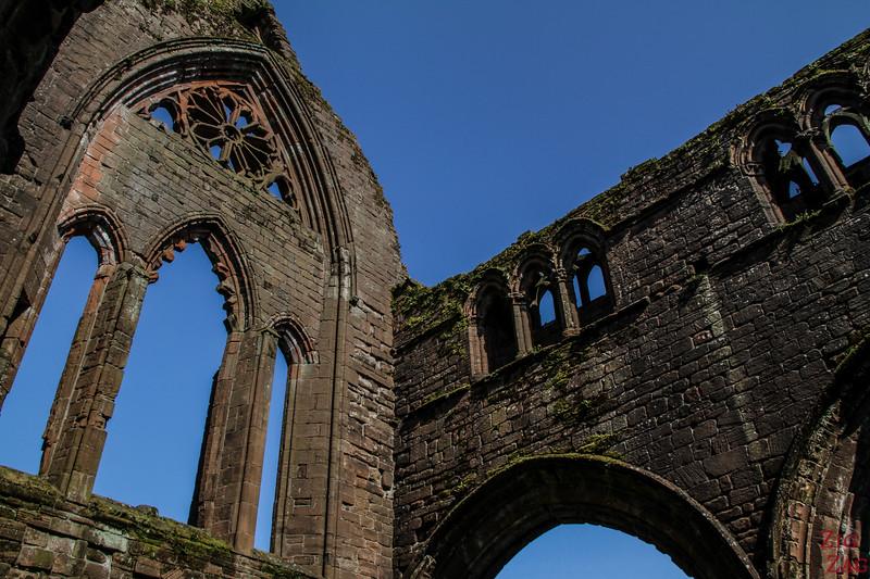 Sweetheart Abbey Scotland - exploring the ruins 7