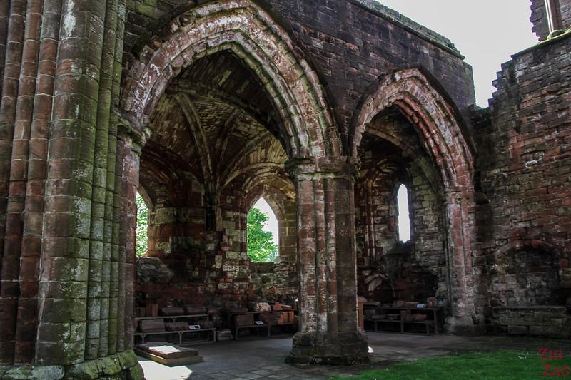 Sweetheart Abbey Scotland - exploring the ruins 8