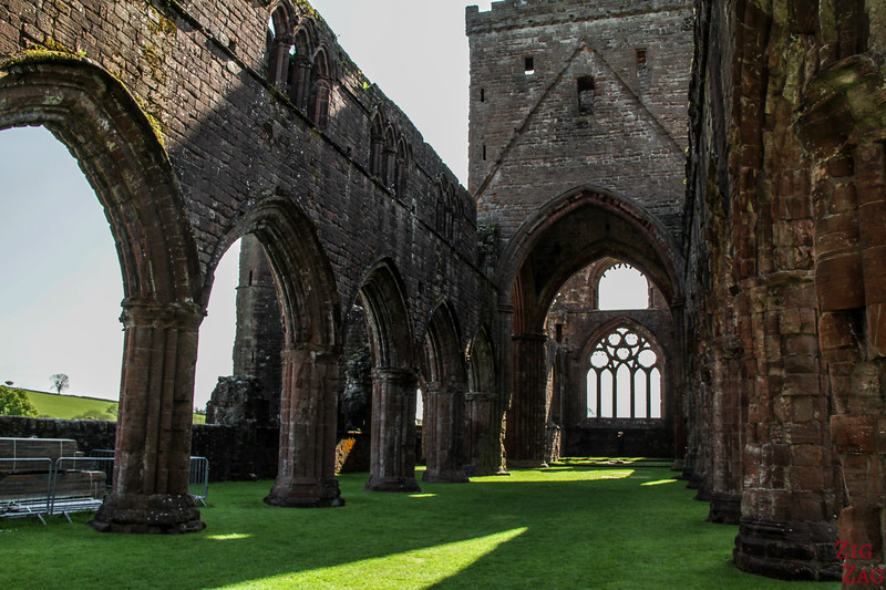 Sweetheart Abbey Scotland - exploring the ruins 6