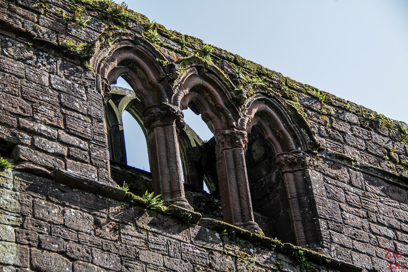 Sweetheart Abbey Scotland - exploring the ruins 11