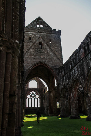 Sweetheart Abbey Scotland - exploring the ruins 4