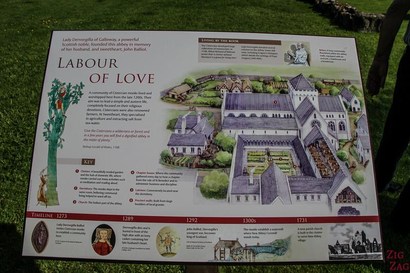 Sweetheart Abbey Scotland - Outside 4