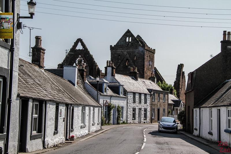 Sweetheart Abbey Scotland - New Abbey village