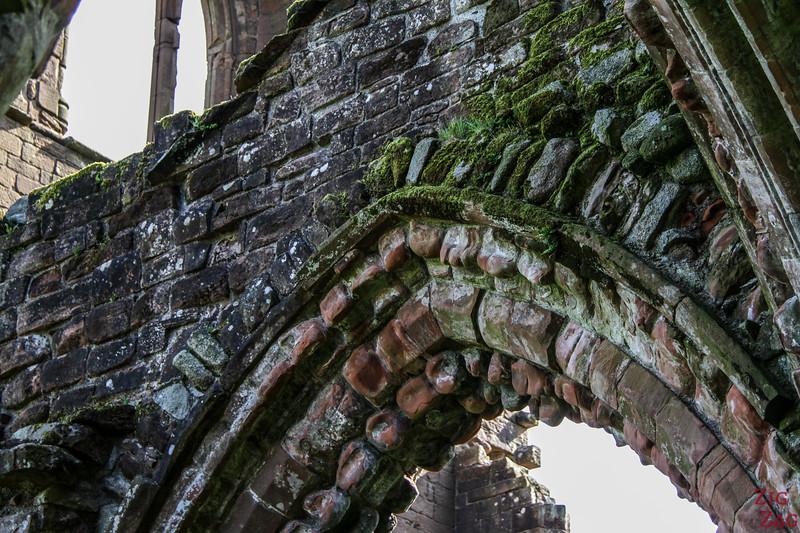 Sweetheart Abbey Scotland - exploring the ruins 12