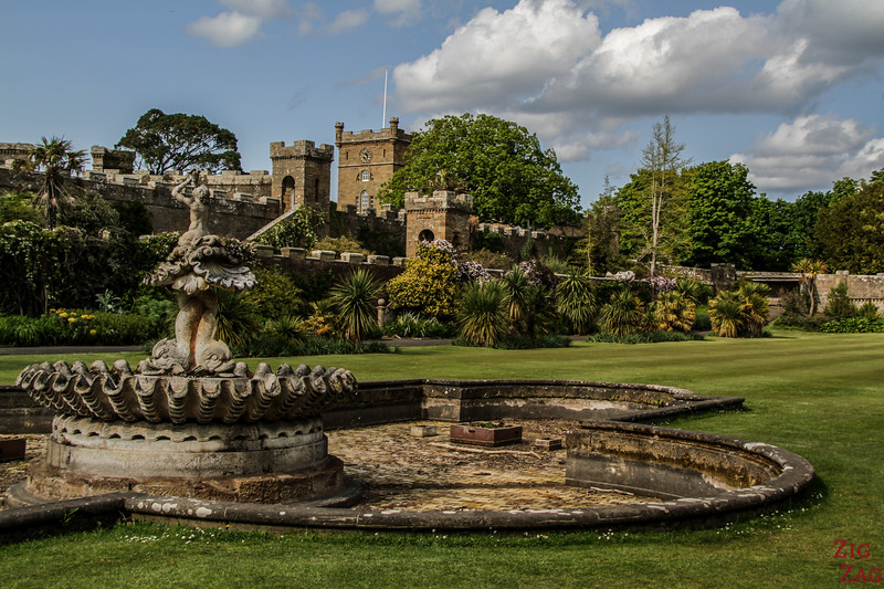 Culzean - Garden and fountain 1