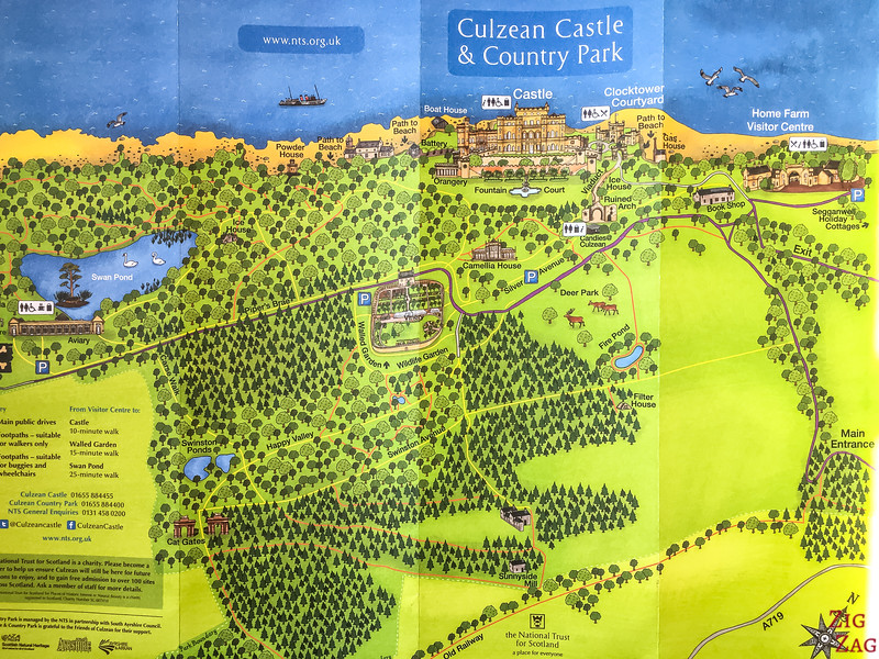 Culzean Castle Map