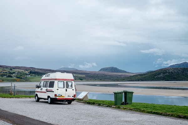 Camper Van on the Causeway