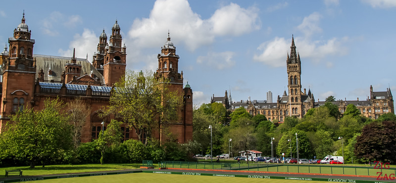 Glasgow University from far away 2