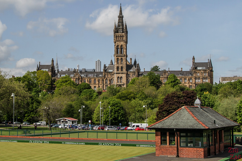 Glasgow University from far away 3