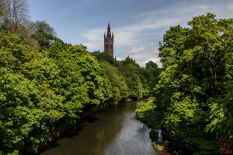 Glasgow University from far away 1