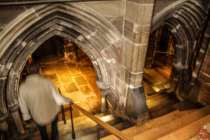 Lower church of St Mungo's Cathedral Glasgow Scotland 1
