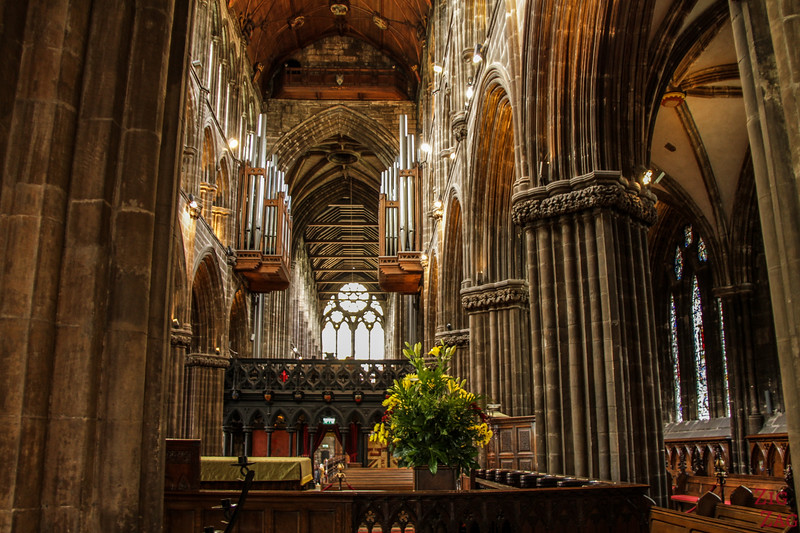 Inside architecture St Mungo's Cathedral Glasgow Scotland 1