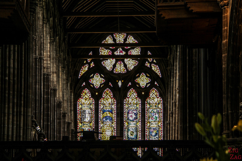 Stained glass windows in St Mungo's Cathedral Glasgow 1