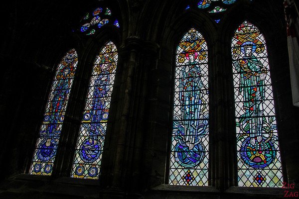 Stained glass windows in St Mungo's Cathedral Glasgow 4