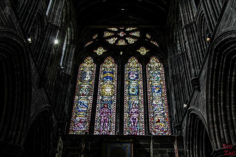 Stained glass windows in St Mungo's Cathedral Glasgow 6