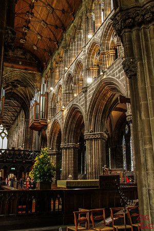 Inside architecture St Mungo's Cathedral Glasgow Scotland 6