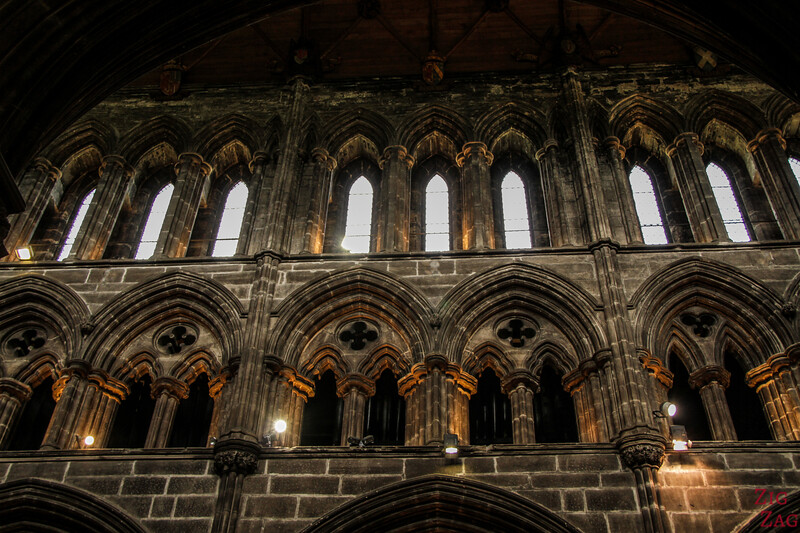 Inside architecture St Mungo's Cathedral Glasgow Scotland 4