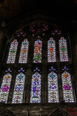 Stained glass windows in St Mungo's Cathedral Glasgow 3