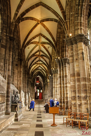 Inside architecture St Mungo's Cathedral Glasgow Scotland 5