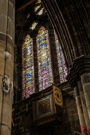 Stained glass windows in St Mungo's Cathedral Glasgow 2