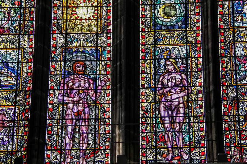 Stained glass windows in St Mungo's Cathedral Glasgow 5