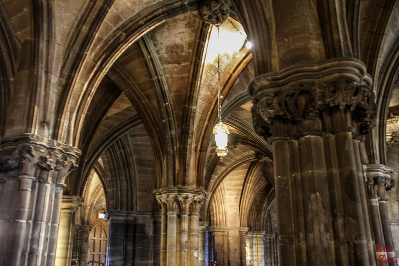 Lower church of St Mungo's Cathedral Glasgow Scotland 4