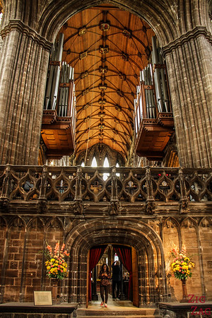 Inside architecture St Mungo's Cathedral Glasgow Scotland 7