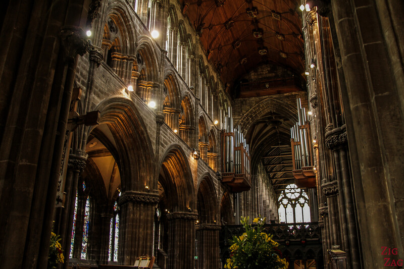Inside architecture St Mungo's Cathedral Glasgow Scotland 2