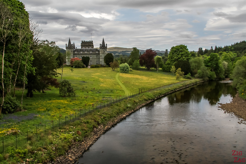 View of Inveraray Castle Scotland 1