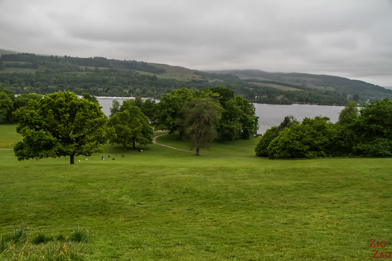 Best views of Loch Lomond Scotland - Balloch Castle 1