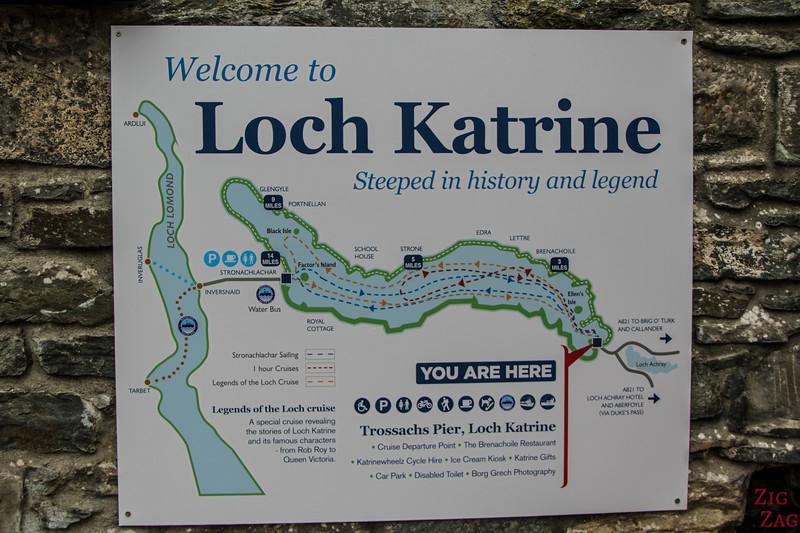 Loch Katrine Map