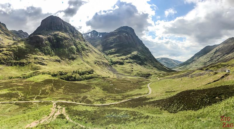 A82 GlenCoe Ecosse - Three sisters montagnes 3
