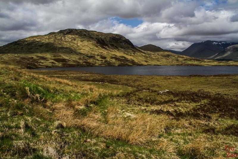 Weiter auf der Glencoe Road - Lochan na h-Achlaise und Loch Ba