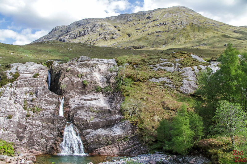 A82 Glen Coe Scotland - meeting of the 3 waters waterfall
