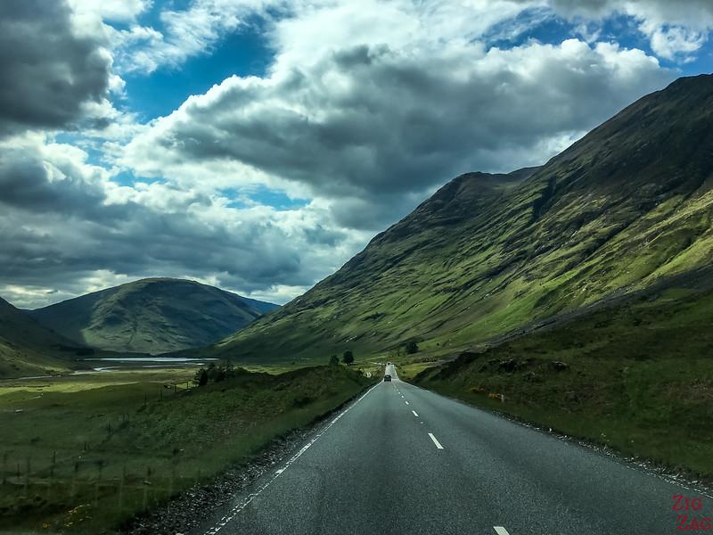 A82 GlenCoe Ecosse - Route  1